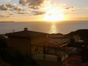 Pedra Rubia B&B at sunset